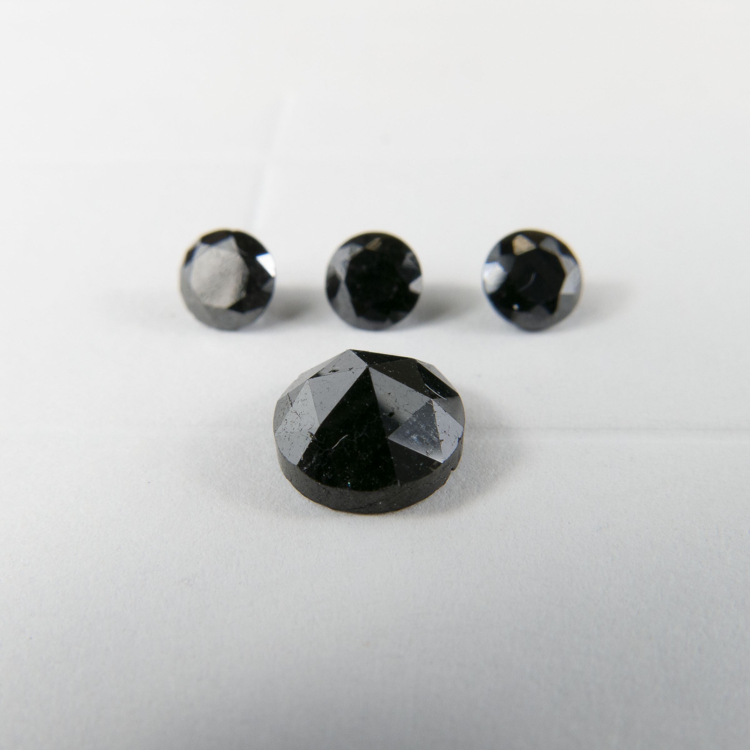 Rose Cut And 3 Full Cut Black Diamonds