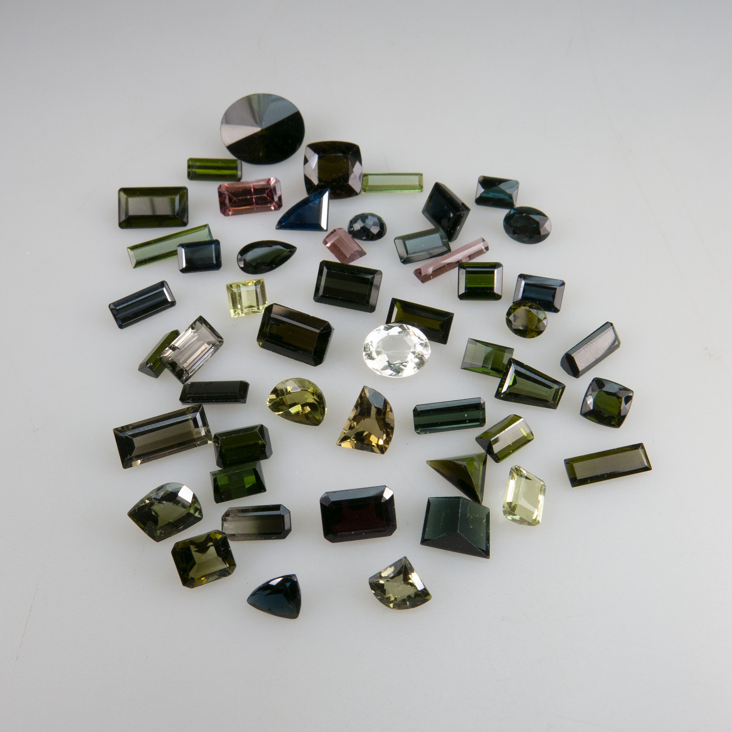 50 Various Cut Tourmalines