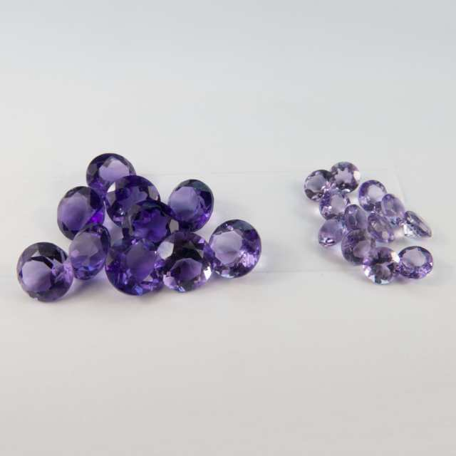 Round Cut Amethysts And Citrines