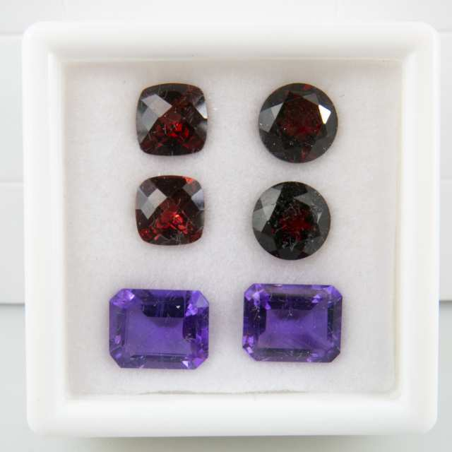 10 Pairs Of Various Cut Gemstones
