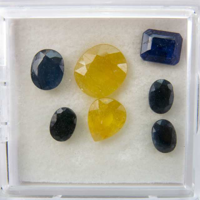Quantity Of Various Cut Sapphires And Iolites