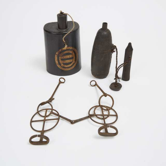 A Group of Four Early Japanese Military Items, 19th/20th Century