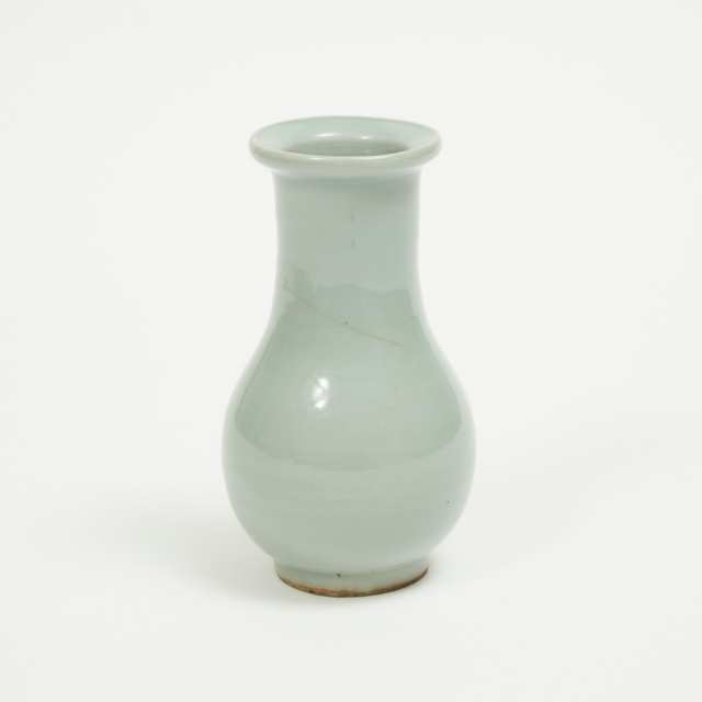 A Longquan Celadon Glazed Bottle Vase