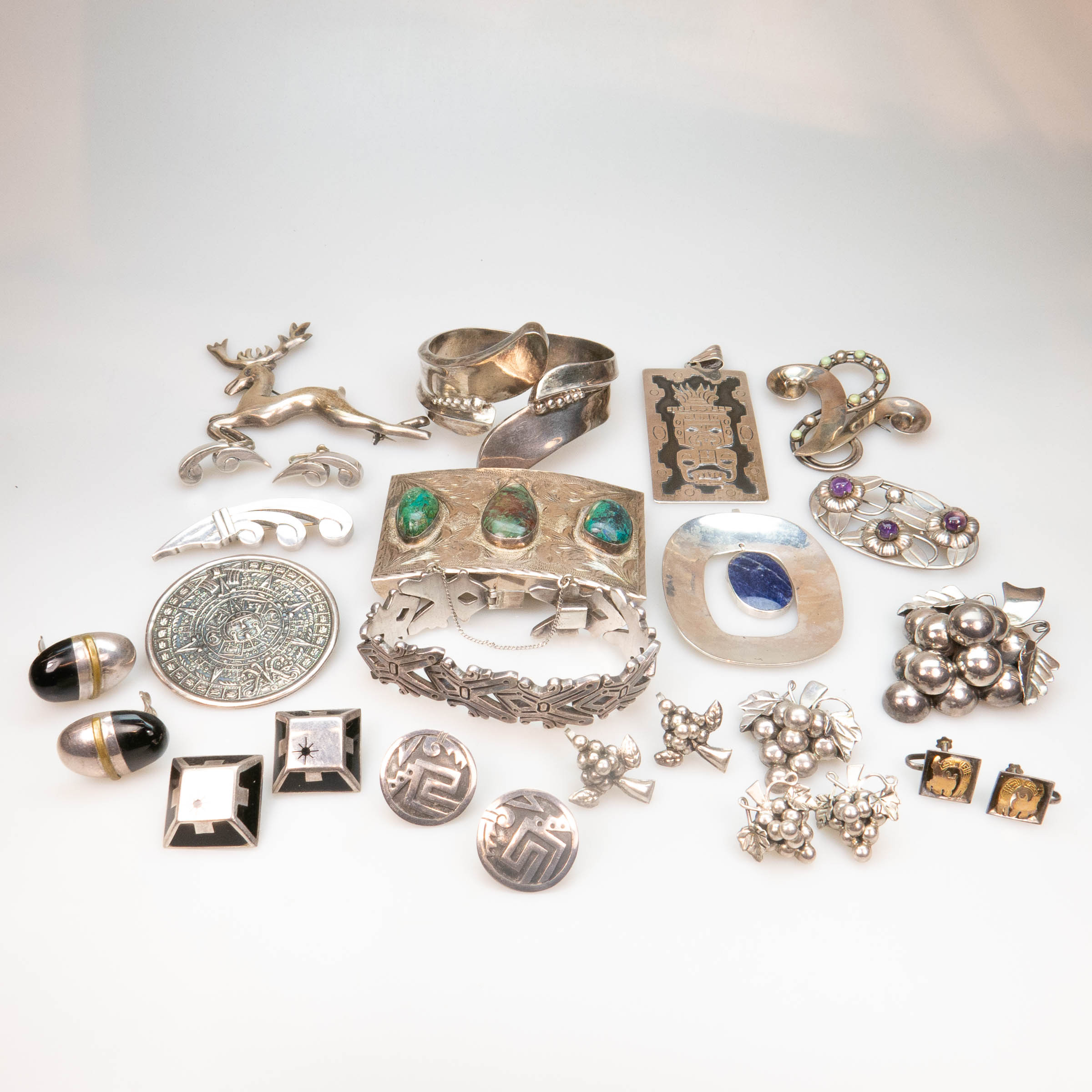 Quantity Of Mexican Silver Jewellery