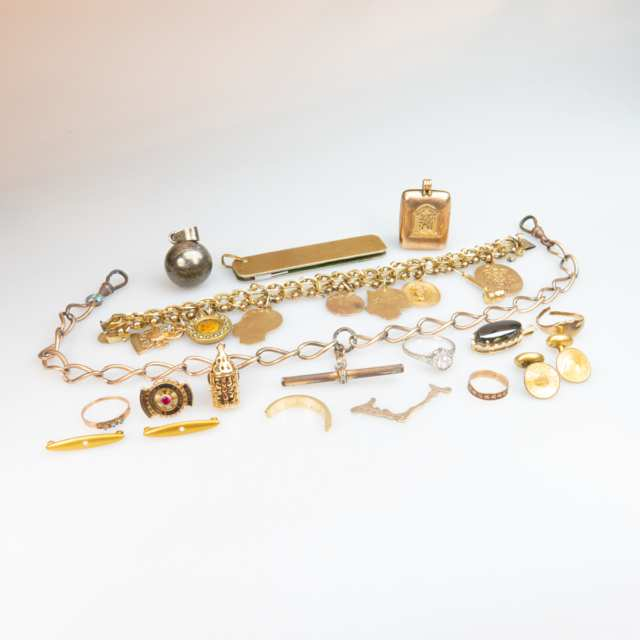 Small Quantity Of Gold, Silver And Gold-Filled Jewellery