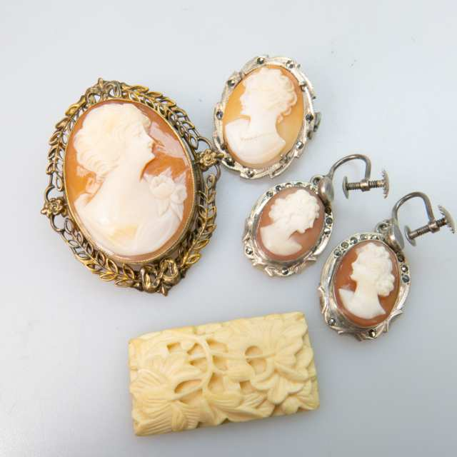 13 Various Carved Shell Cameos