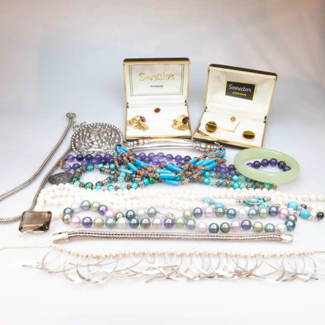 Quantity Of Various Silver Jewellery, Etc.