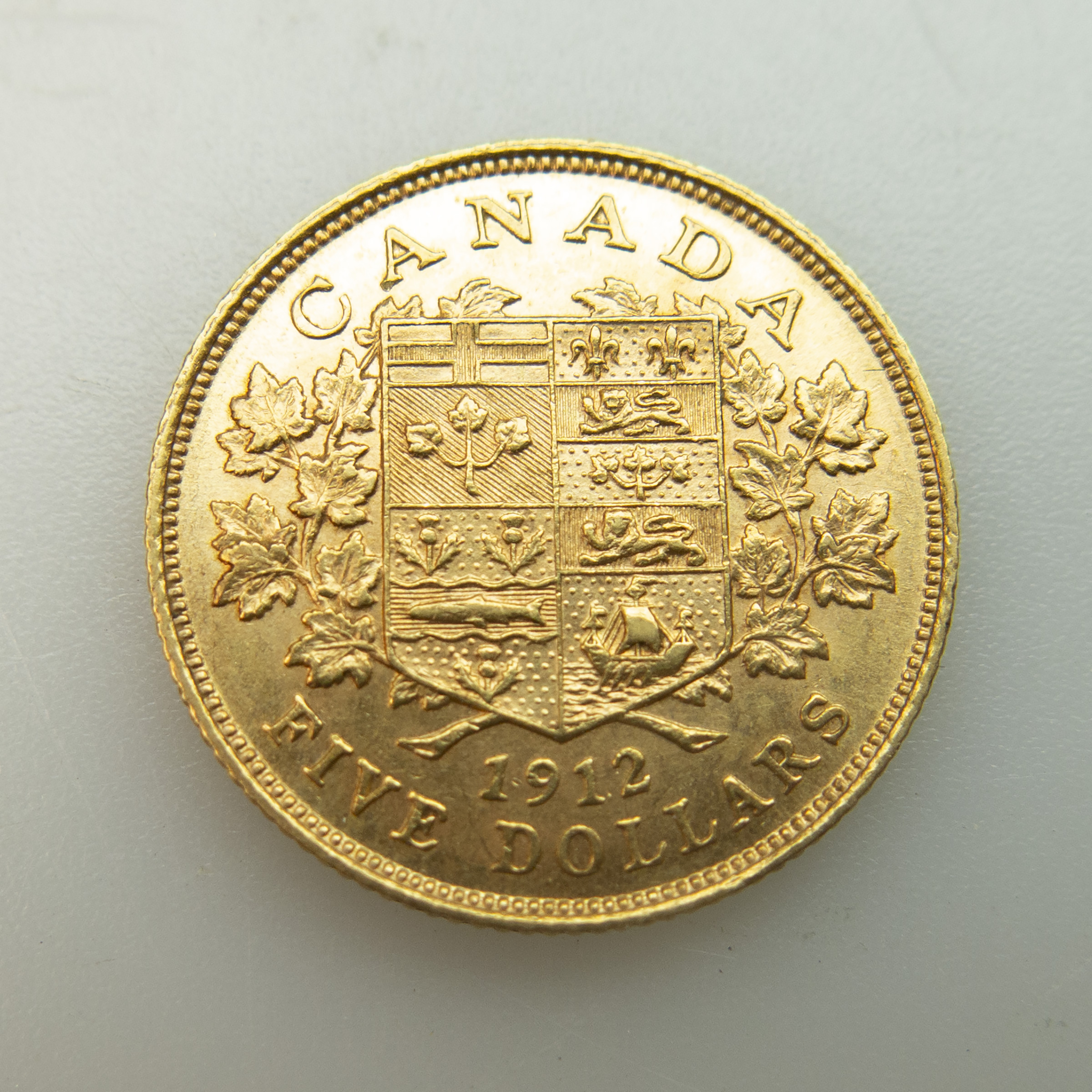 Canadian 1912 $5 Gold Coin