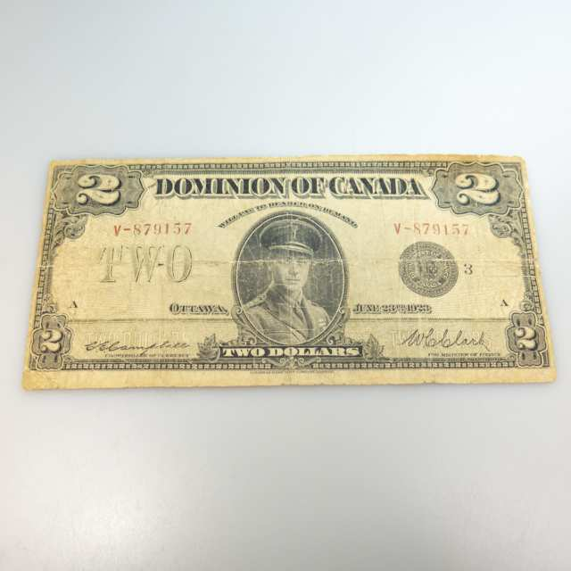 Canadian 1923 $2 Bank Note