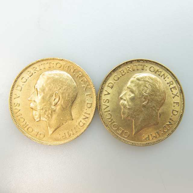 Two Gold Sovereigns
