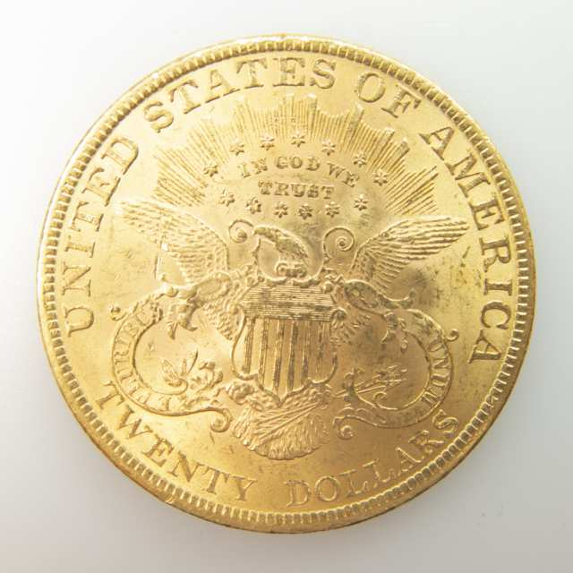 American 1897 $20 Double Eagle Gold Coin