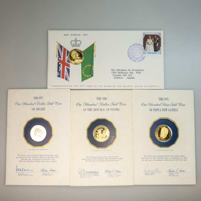 4 Franklin Mint Gold Coins