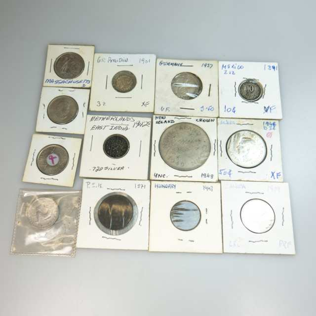 Small Quantity Of Coins, Silver Coins, and Silver Medallions