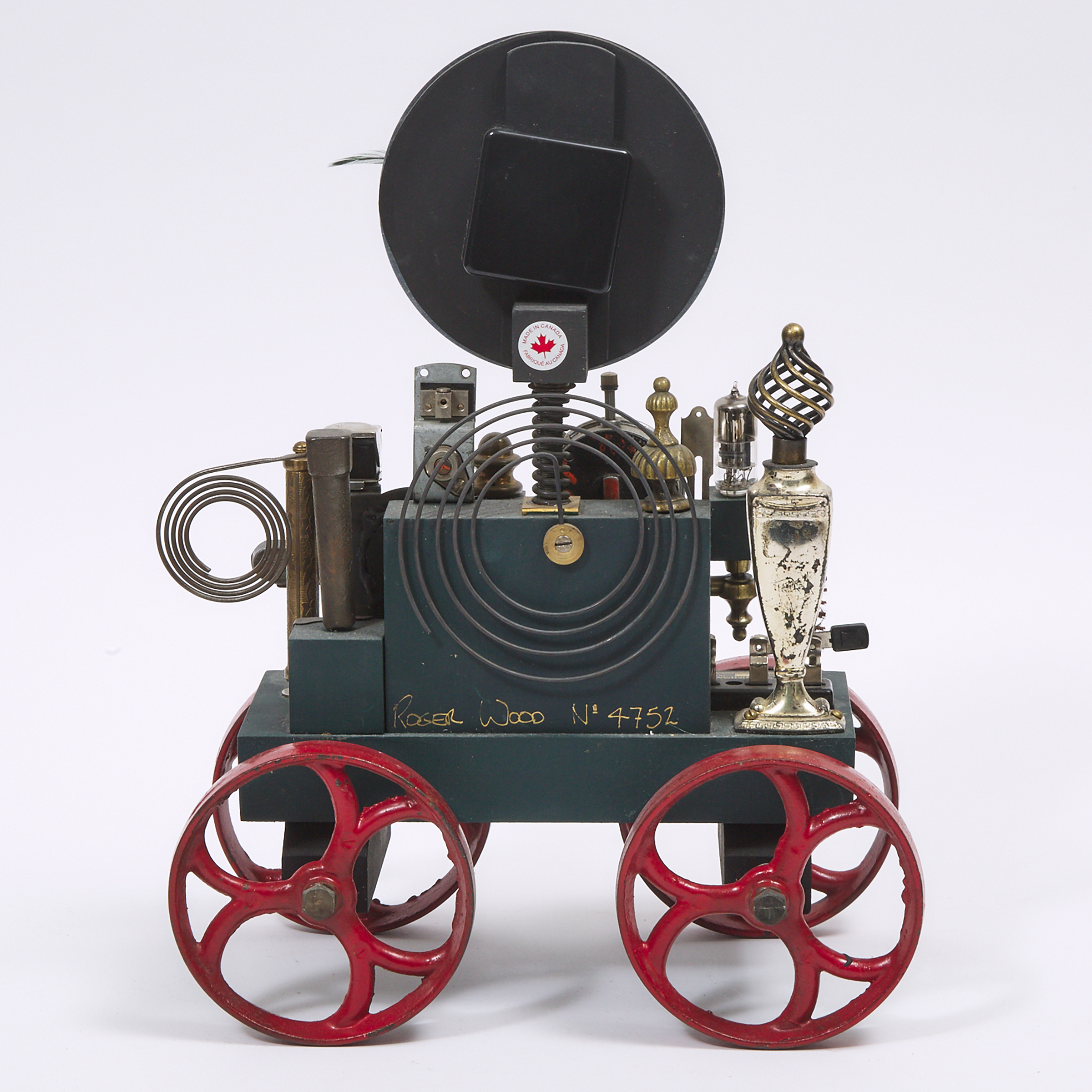 Klockwerks Industrial Steampunk Table 'Carriage' Clock by Roger Wood, Hamilton, 21st century