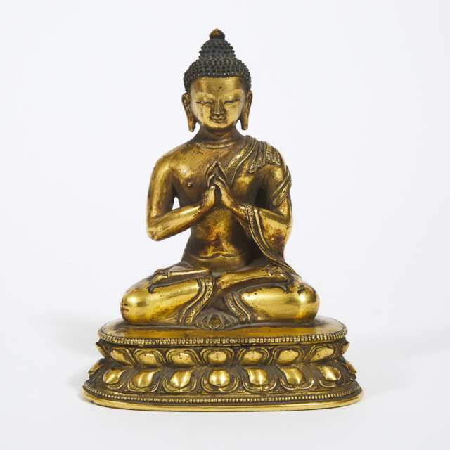 Gilt Bronze Figure of Vairocana, Qing Dynasty