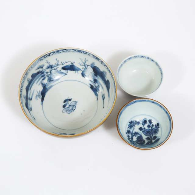 A Group of Five 'Nanking Cargo' Wares, Qianlong Period, Circa 1750