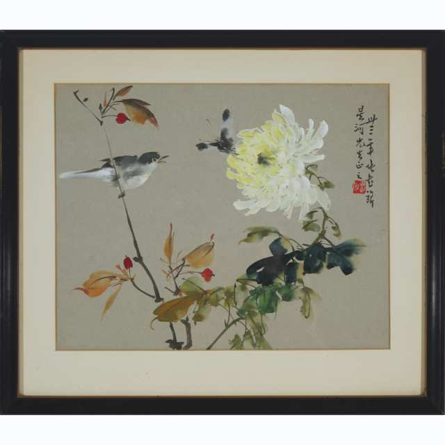Zhang Shuqi (1901-1957), Bird, Butterfly, and Peony