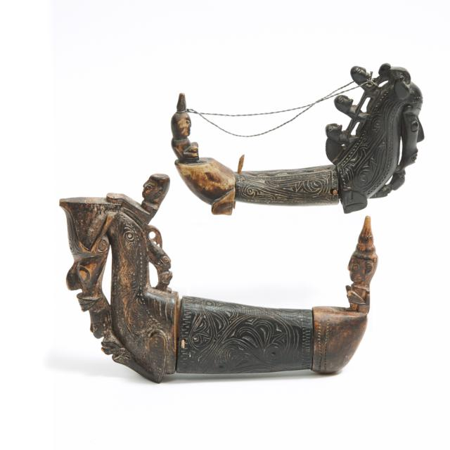 Two Batak Toba Medicine Containers, North Sumatra, Indonesia, early to mid 20th century