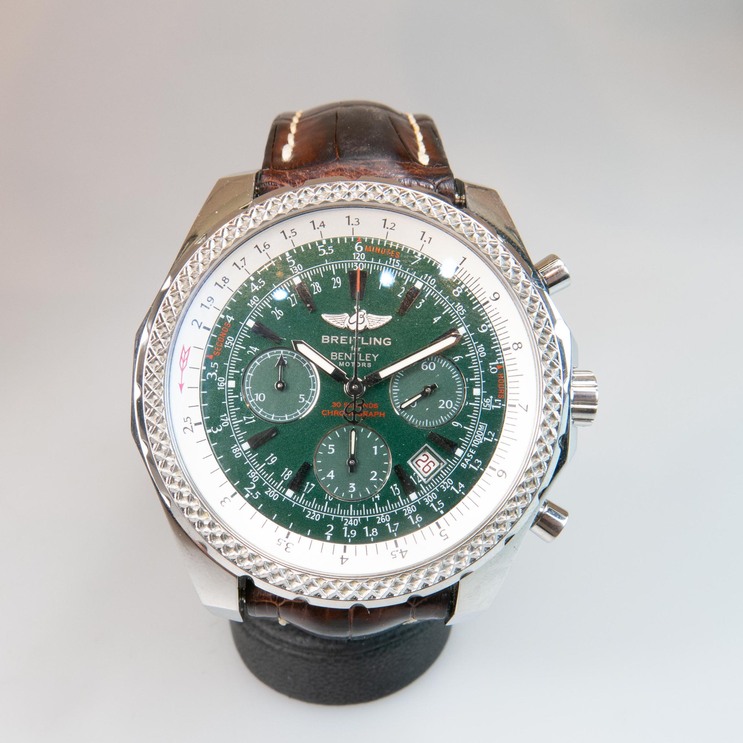 Breitling For Bentley Motors Limited Edition Wristwatch, With Date And Chronograph
