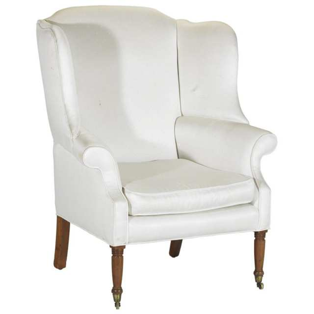 Late Georgian Wing-Back Easy Chair