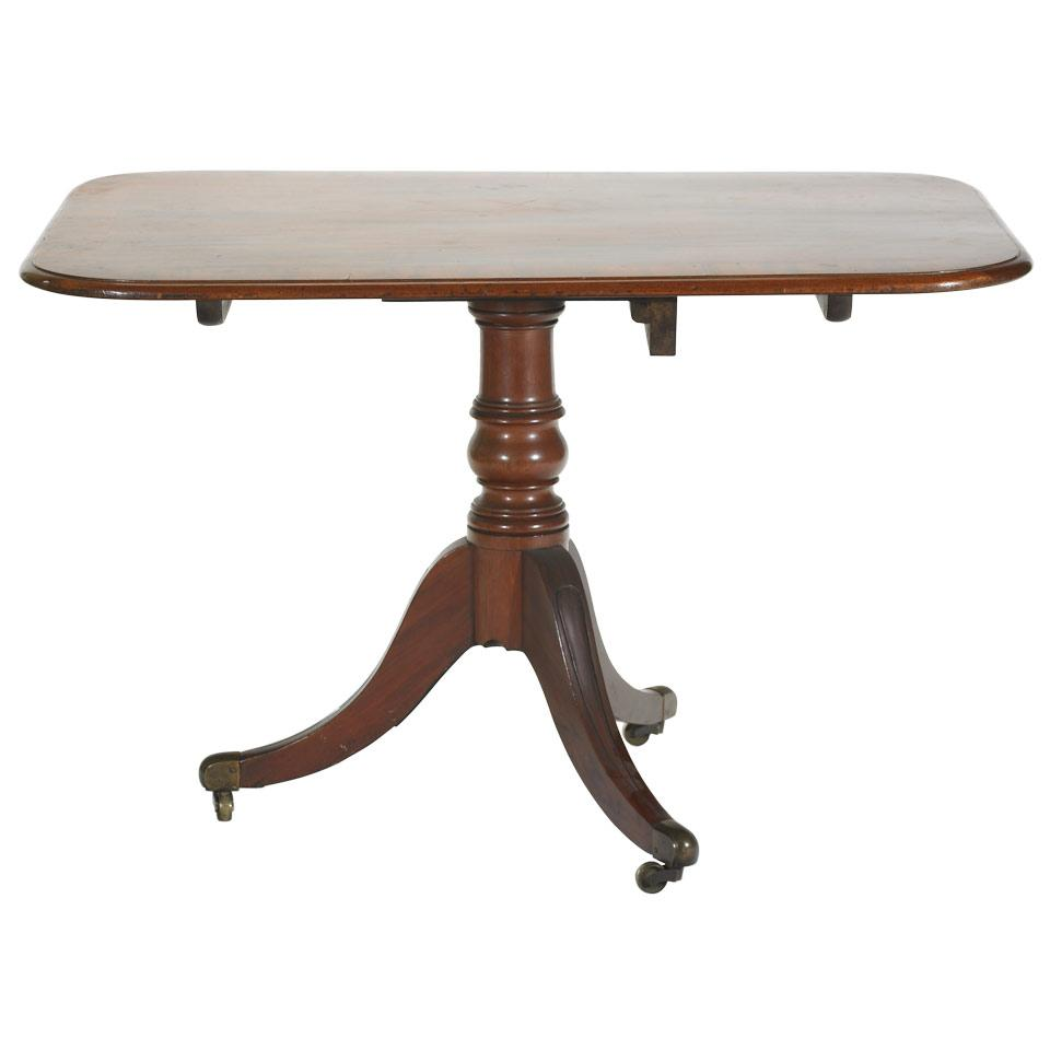 George III Crossbanded Mahogany Tilt-Top Breakfast Table