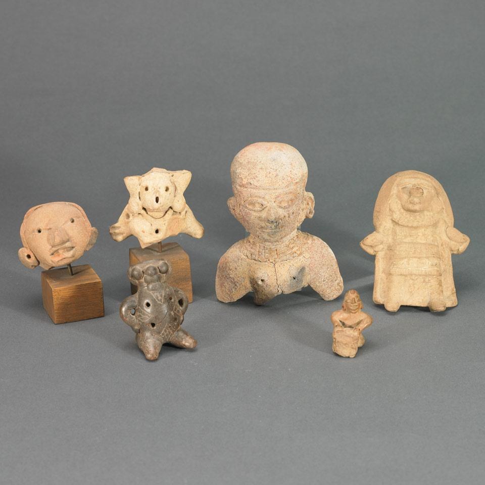 Six Pottery Figures and Fragments