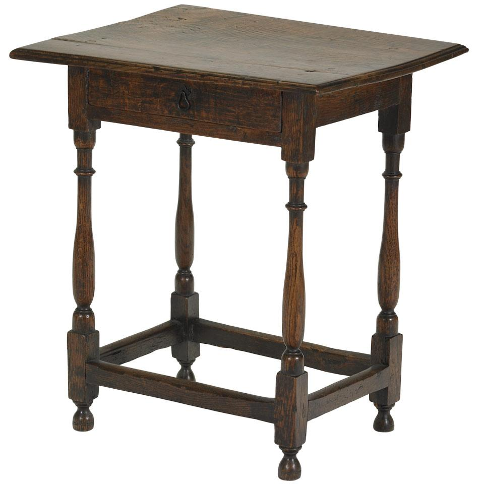 English Oak Small Side Table
