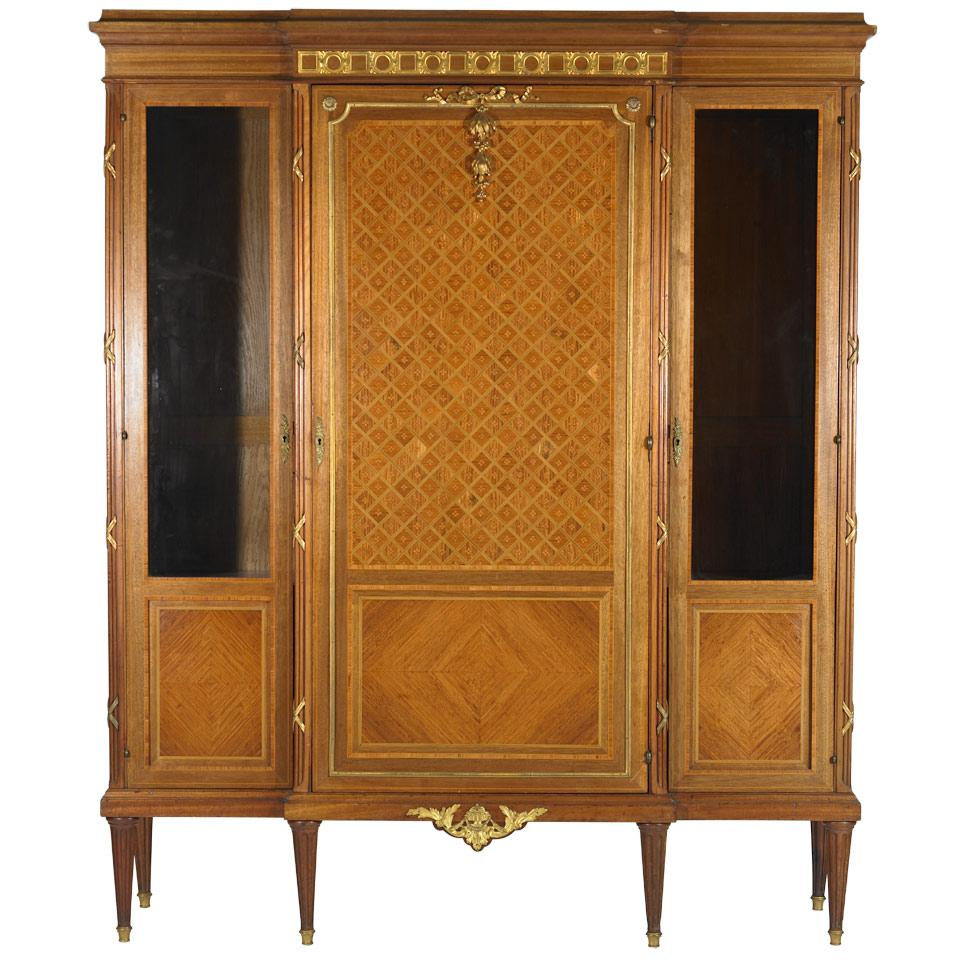 Mahogany and Parquetry Work Cabinet
