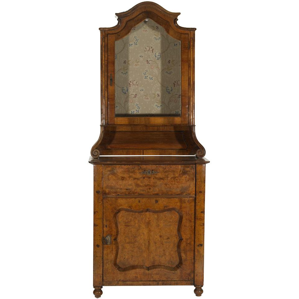 Burled Wood Small Cabinet