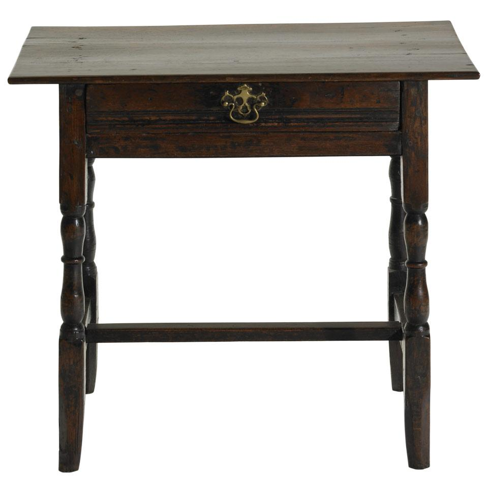 English Oak Single Drawer Side Table