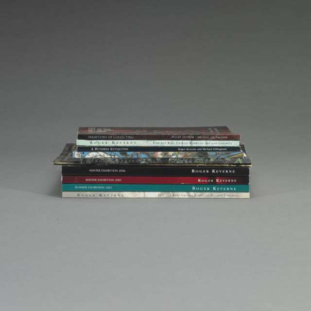 Roger Keverne Exhibition Catalogues, 1997-2006, Ten Volumes