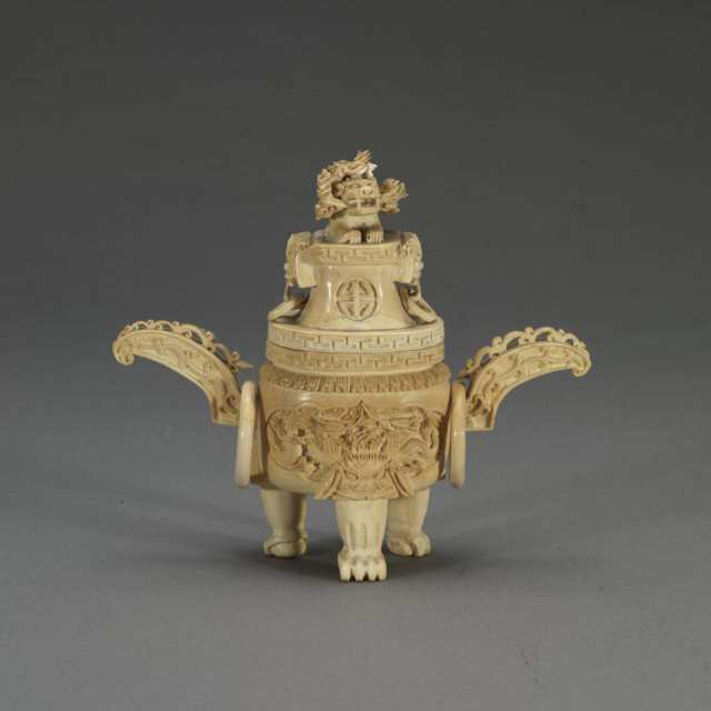 Small Ivory Carved Censer