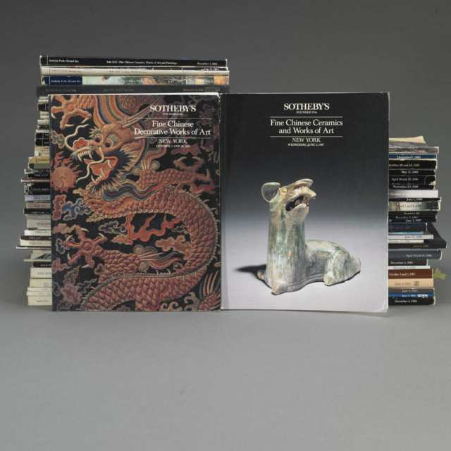 Sotheby's New York, 1973-1989, Seventy-Six Volumes on Chinese Art