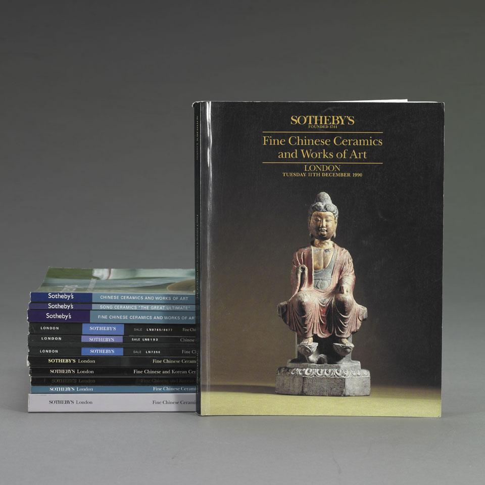 Sotheby's London, 1990-2006, Twelve Volumes on Chinese Art