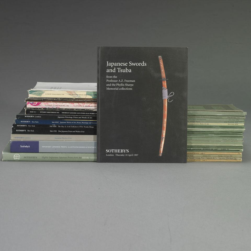 A Collection of Sotheby's Japanese Art Catalogues  from London and New York, 1967-2004, Forty-Six Volumes