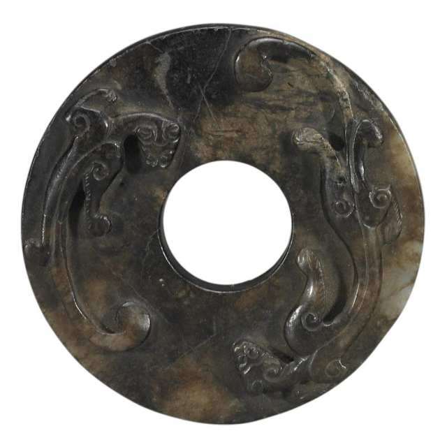 Jade Bi Disc, Qing Dynasty, Early 20th Century