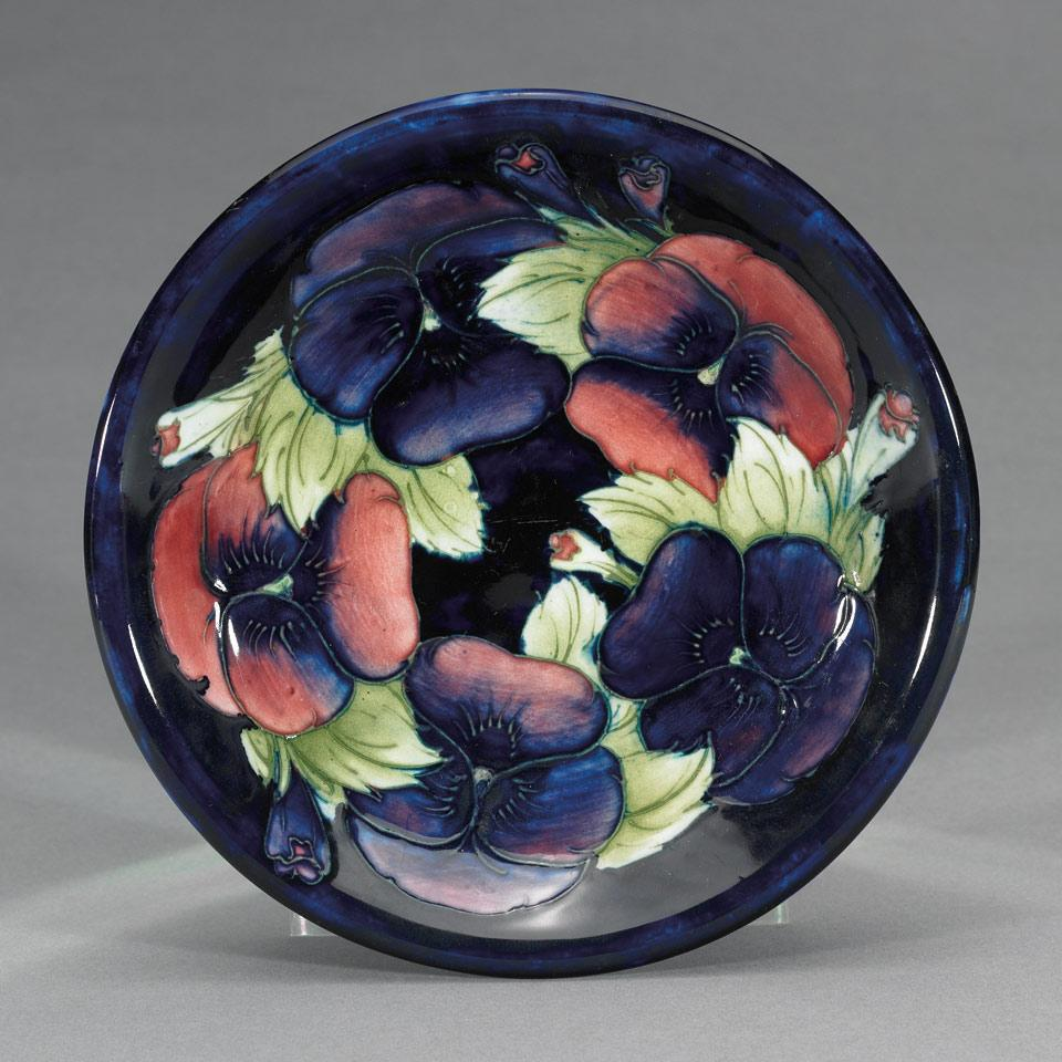 Moorcroft Pansy Plate, c.1925