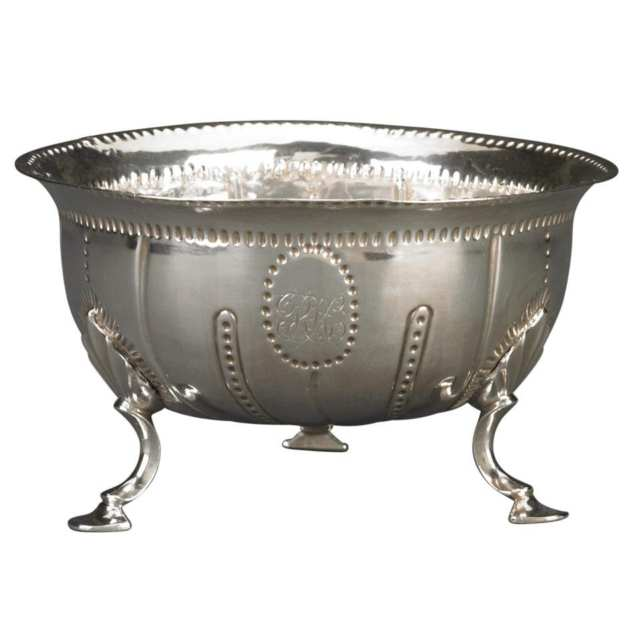 George III Irish Silver Bowl, Matthew West, Dublin, c.1770