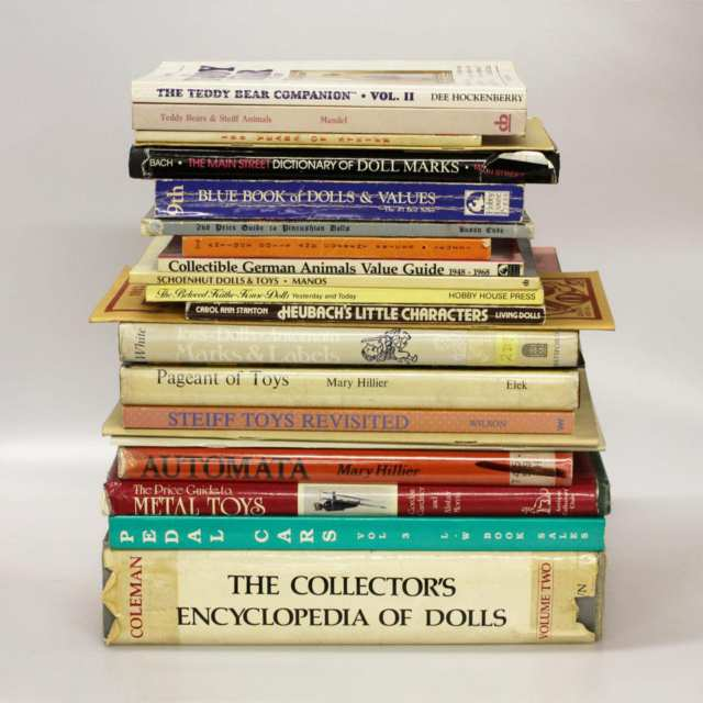 Thirty-Four Volumes on Dolls, Toys and Collectibles