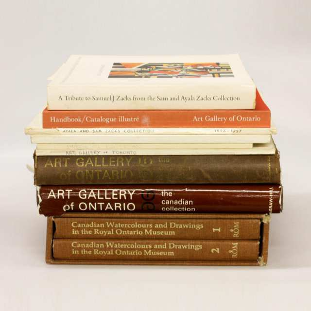 Ten Volumes on Canadian Art at the Art Gallery of Ontario, Art Gallery of Toronto and the Royal Ontario Museum