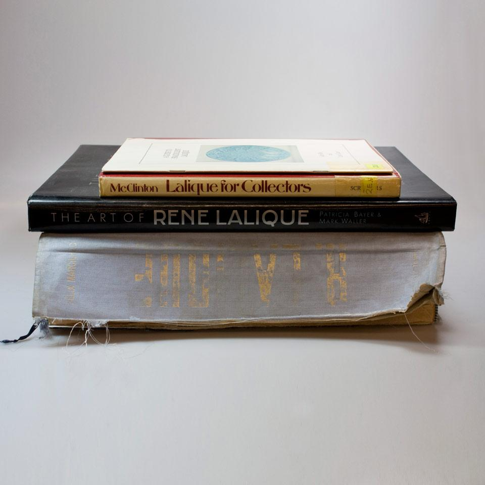 Four Volumes on Lalique Glass
