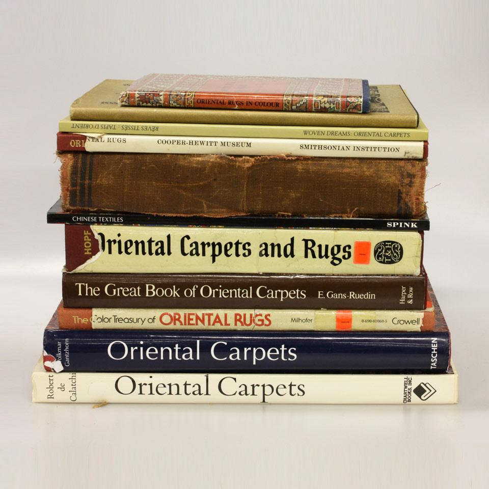 Eleven Volumes on Oriental Rugs and Carpets