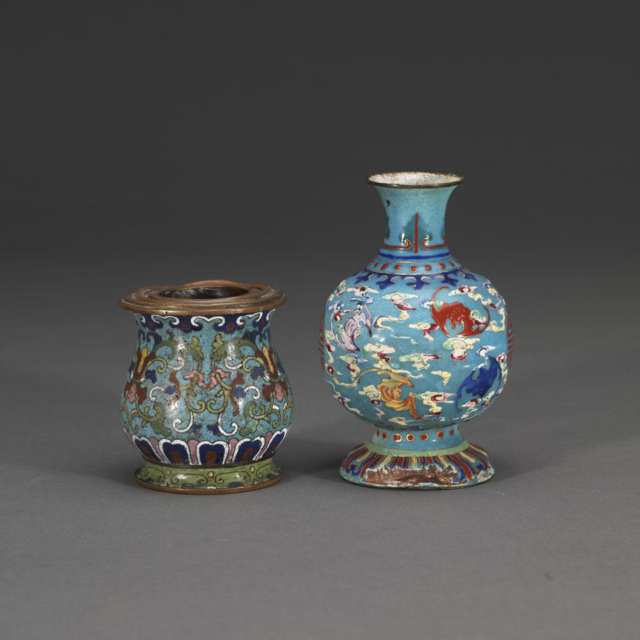 Two Cloisonné Enamel Items, Qing Dynasty, 18th/19th Century