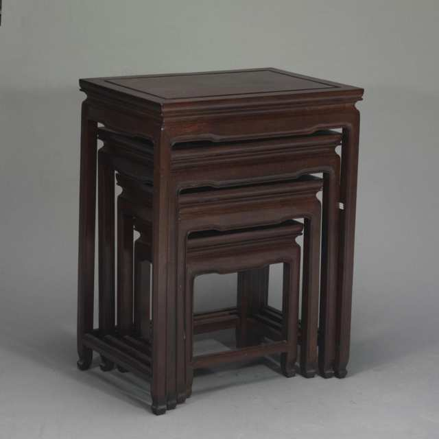 Four Wood Nesting Tables