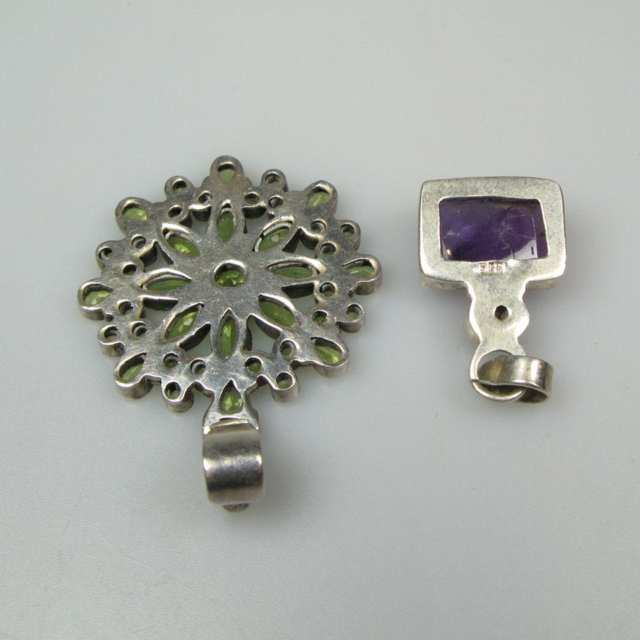 Two Sterling Silver Pendants