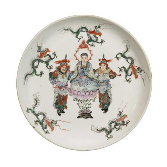 Pair of Famille Verte Plates, Republican Period