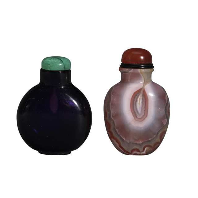 Two Snuff Bottles, 19th Century