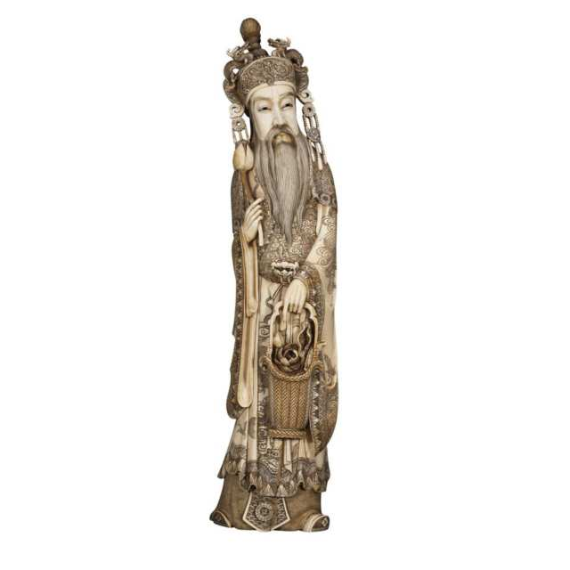 Massive Ivory Carved Immortal, Circa 1900