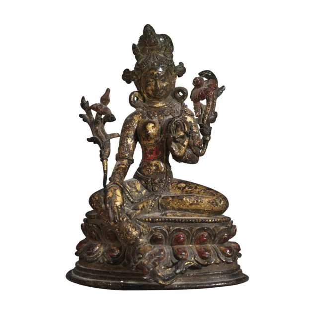 Bronze Figure of a Seated Tara, Pala Period, North India, 11th to 12th Century