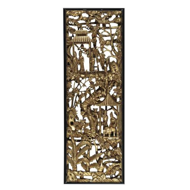 Pair of Gilt Wood Architectural Panels, 19th Century